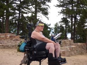 Tammy overlooking Boulder